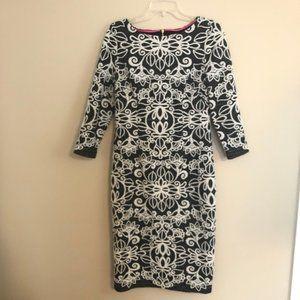 Eliza J Sheath Dress Size 8 Black and White